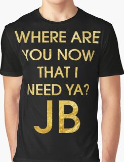 Where Are Ü Now - Justin Bieber Graphic T-Shirt