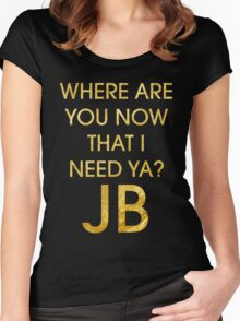 Where Are Ü Now - Justin Bieber Women's Fitted Scoop T-Shirt