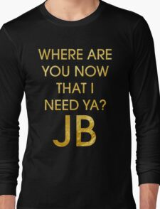 Where Are Ü Now - Justin Bieber Long Sleeve T-Shirt