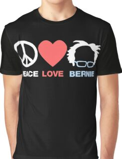 Peace Love Bernie Graphic T-Shirt