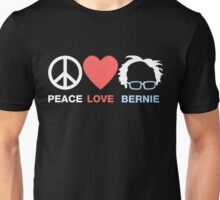 Peace Love Bernie Unisex T-Shirt