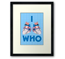 i hearts who Framed Print
