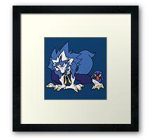 Whirlwind Werewolf Framed Print