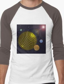 3D Planets Men's Baseball ¾ T-Shirt