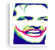 joker joke the shining  jack nicholson Canvas Print