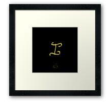 I Golden Alphabet Series Framed Print