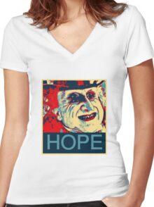 PENGUIN HOPE POSTER BATMAN  Women's Fitted V-Neck T-Shirt
