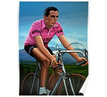 Fausto Coppi Painting Poster