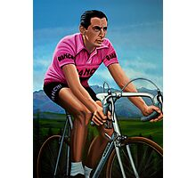 Fausto Coppi Painting Photographic Print