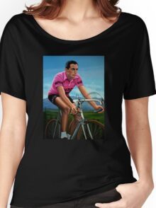 Fausto Coppi Painting Women's Relaxed Fit T-Shirt