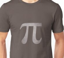 Silver Pi Symbol Unisex T-Shirt