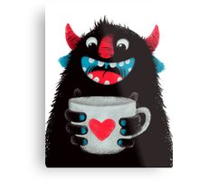 Monster Mug Metal Print