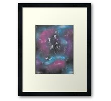 Dull Space Framed Print