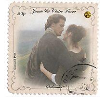 Outlander stamp/Jamie & Claire Fraser/Diana Gabaldon Photographic Print