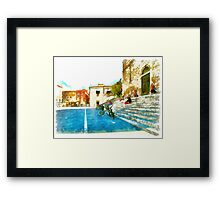 Teramo: cathedral and buildings Framed Print