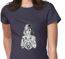 tattoo's pray Womens Fitted T-Shirt