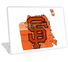 San Francisco Giants Map Laptop Skin