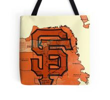 San Francisco Giants Map Tote Bag