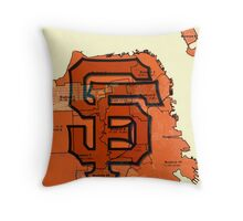 San Francisco Giants Map Throw Pillow