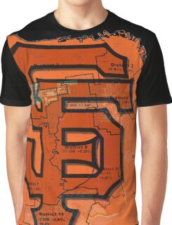 San Francisco Giants Map Graphic T-Shirt
