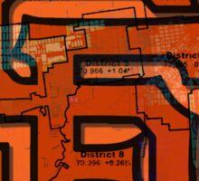 San Francisco Giants Map Sticker