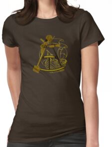 Measuring The Territory At Sea Womens Fitted T-Shirt