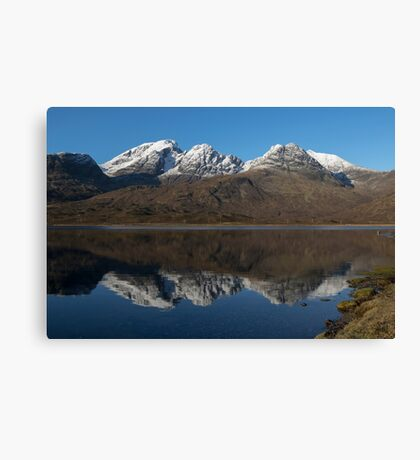 Bla Bheinn ( Blaven ) Reflections Canvas Print