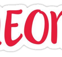 Oneonta - SCRIPT/CAPS Sticker