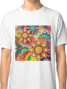 Psychedelic Flower Design Classic T-Shirt