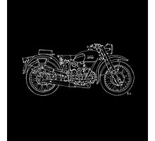 Moto Guzzi Airone white on black Photographic Print