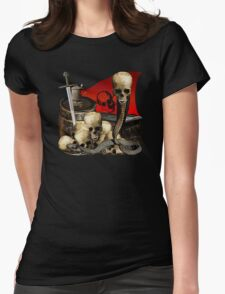 Toasting The Pirate Horde Womens Fitted T-Shirt