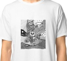 Black and white mouse doodle Classic T-Shirt