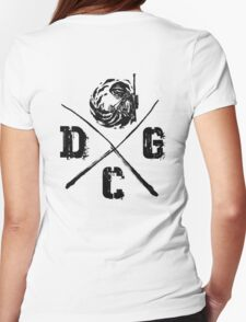 Dead Center Gaming Black Womens Fitted T-Shirt
