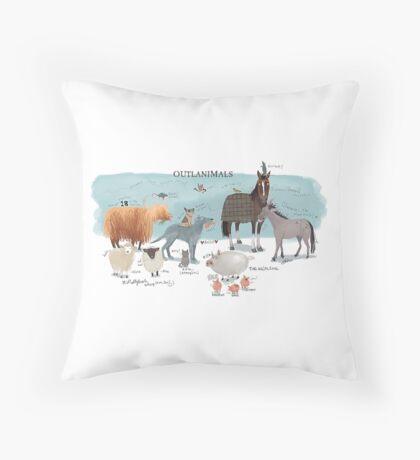 Outlanimals- 2400x1600 Throw Pillow