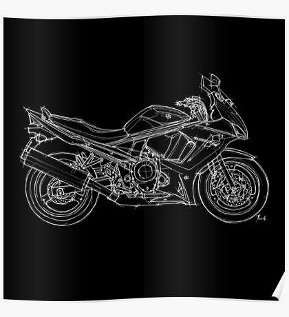 Suzuki GSX motorcycle Poster