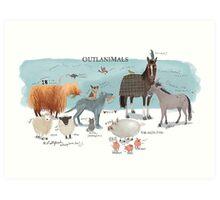 Outlanimals 3240x2160 Art Print