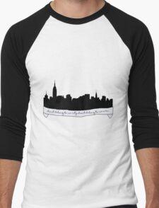 Hurricane Lyrics City Skyline Men's Baseball ¾ T-Shirt