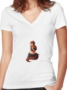Anthro Girl Women's Fitted V-Neck T-Shirt