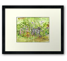 DOMESTIC JUNGLE Framed Print