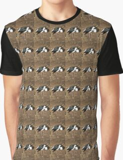 Pied Stilt Preening Graphic T-Shirt