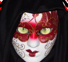 green eyes mask Sticker