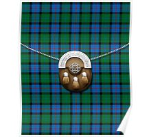 Flowers Of Scotland Tartan And Sporran Poster