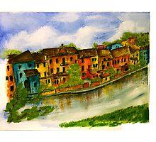 On The Fiume In Polcernigo Photographic Print