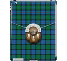 Flowers Of Scotland Tartan And Sporran iPad Case/Skin