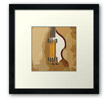 Guitar Bass abstract portrait, vintage brown background Framed Print