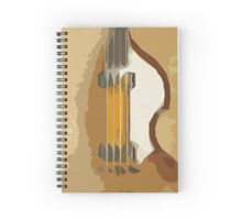 Guitar Bass abstract portrait, vintage brown background Spiral Notebook