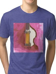 Bass, vintage purple background Tri-blend T-Shirt