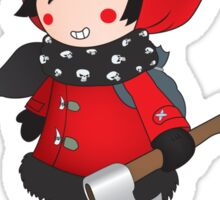Wolf No More.Little Red Riding Hood Sticker