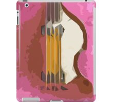 Bass, vintage purple background iPad Case/Skin
