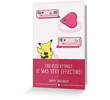PokéLove Pink - Birthday Greeting Card Greeting Card